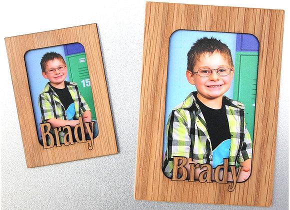 Refrigerator Magnets Personalized Picture Frame - Magnetic Wood Frames - Fridge