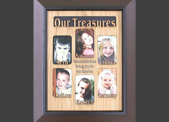 6 to 8 Grandkids Names Mat Insert (ONLY) for 11x14 Picture Frame
