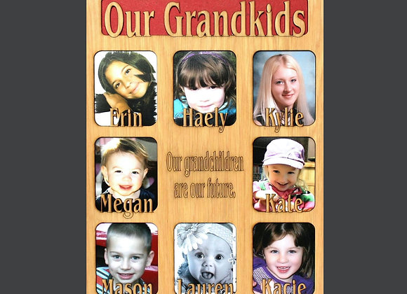9 to 12 Grandkids Names Mat Insert (ONLY) for 11x14 Picture Frame