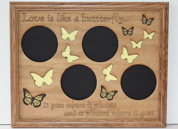 11x14 Butterfly Picture Frame Collage Mat Insert - Unique Wedding Gift