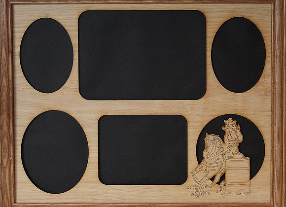 11x14 Barrel Racing Picture Frame Collage Mat Insert - Barrel Racer - Rodeo Mom