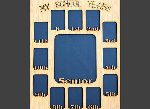 11x14 My School Years Picture Mat Insert for a Picture Frame, Back to School, Pe