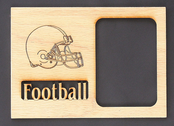 5x7 Football Helmet Sports Wood Photo-Picture Mat Insert for Frame