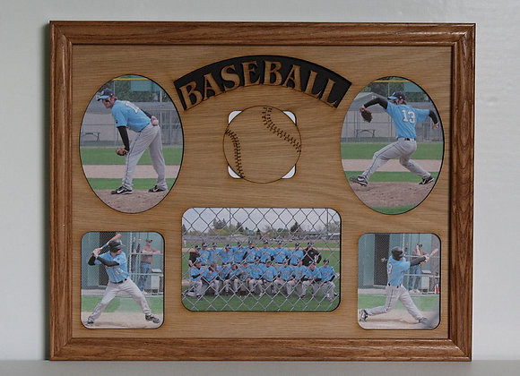 11x14 Baseball Wood Photo-Picture Mat Collage Insert