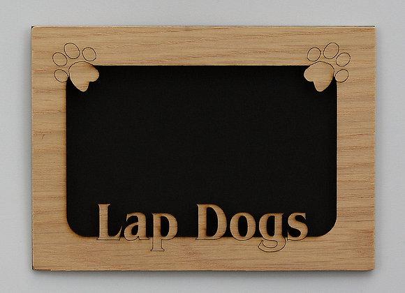 5x7 Lap Dogs Pet Wood Photo-Picture Mat Insert