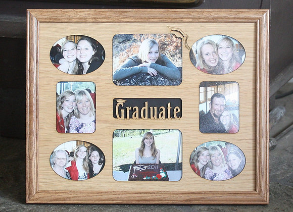11x14 Graduate Graduation Custom Wood Photo-Picture Mat Collage Insert for Frame