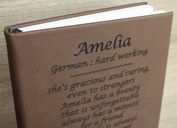 Leather Journal Personalized with Name Meaning with lined pages Custom