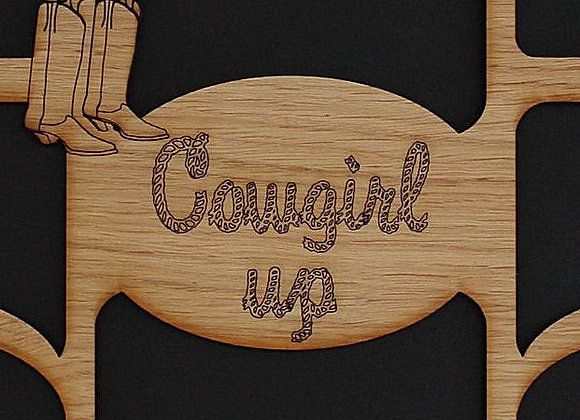 11x14 Cowgirl Up Boots or Cowboy Up Hat Photo Picture Mat Collage Insert