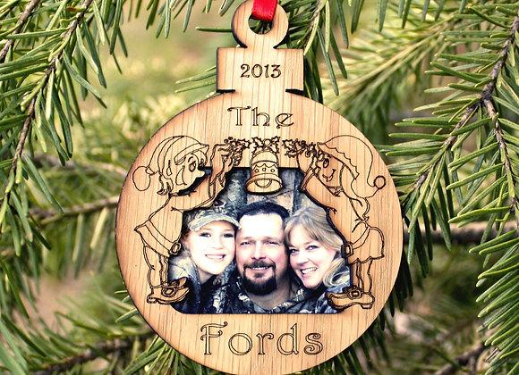 "3"" Personalized Christmas Ornament – Photo Ornament – Family Ornament"