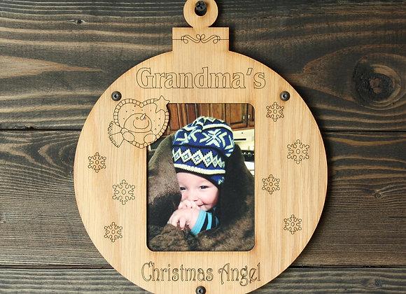 "6.5"" Christmas Ornament Grandma's Photo Picture Frame"