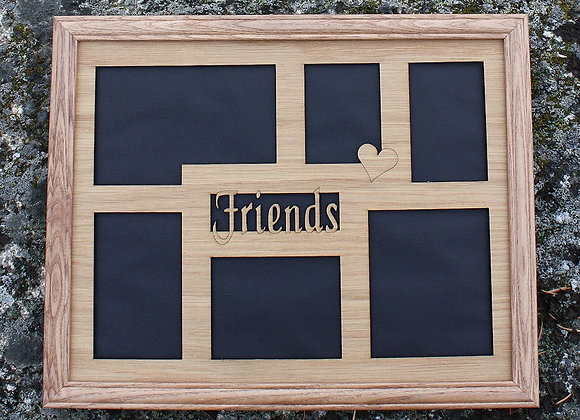 11x14 Friends, BFF, Pals, Forever Buddies custom wood mat collage for frame