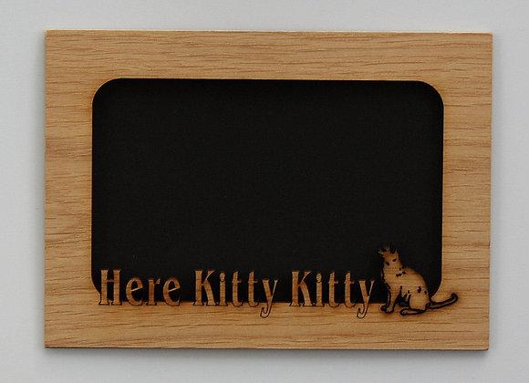 5x7 Here Kitty Kitty- Cat Wood Mat Insert for frame