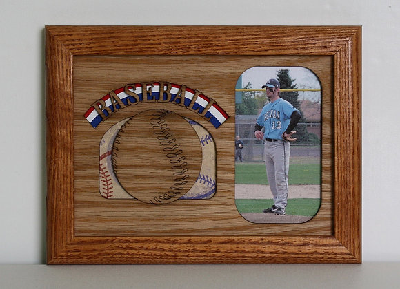 5x7 Baseball Sports Wood Photo-Picture Mat Insert for frame