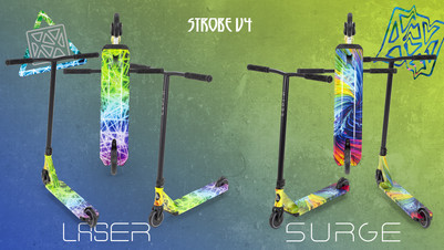Erwachsene Mehrfarbig Unisex Slamm Scooters Neochrome Spiro Hollow Core Roller 120 mm