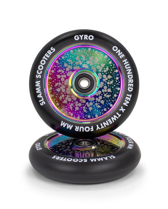 SL591R Slamm 110mm Gyro Wheels Neochrome
