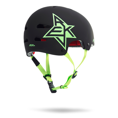 R160BlackGreenRear__HelmetProductOvervie