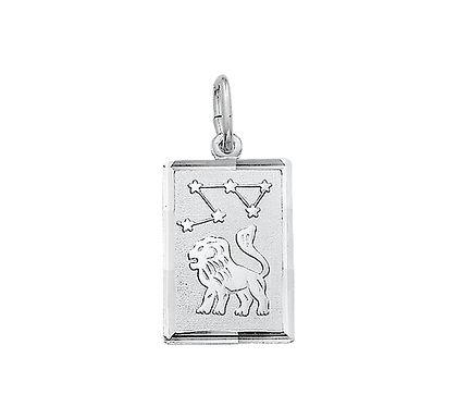 Zilveren Graveerplaat met Leeuw
