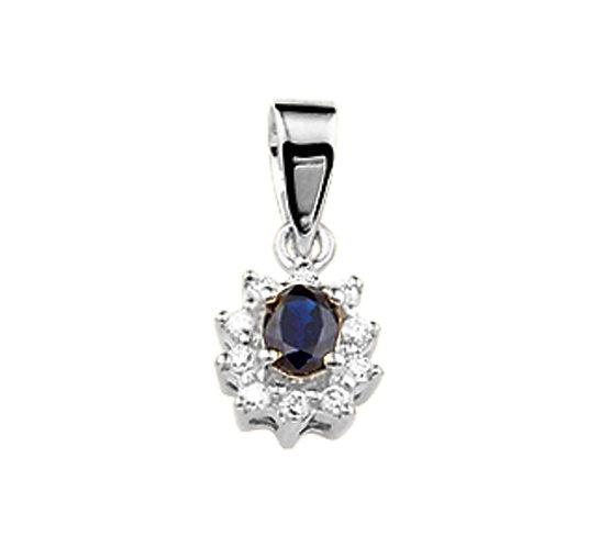 Hanger Diamant met Saffier