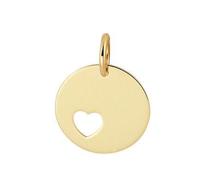 Gouden Graveerplaatje met hart