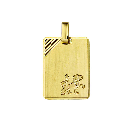 Gouden Graveerplaat met Leeuw