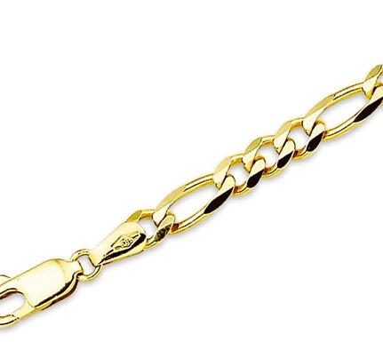 Gouden Figaro armband 4.6 mm breed - 21 cm lang