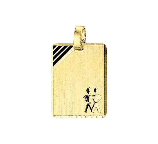 Gouden Graveerplaat met Tweeling