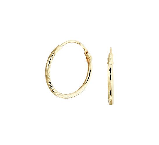 Gouden Oorringen 12 mm
