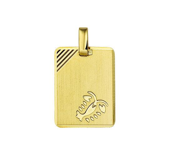 Gouden Graveerplaat met Kreeft