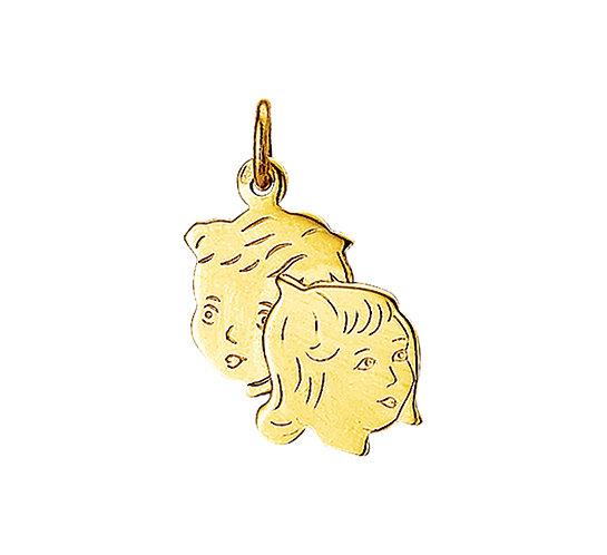 Gouden Kinderhoofdjes jongen en meisje