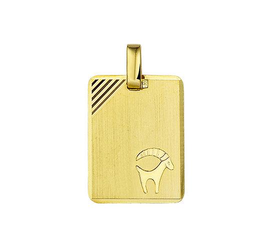 Gouden Graveerplaat met Steenbok