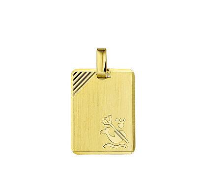 Gouden Graveerplaat met Waterman