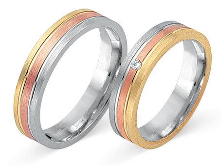 Tri color FGS 80560 14 karaat diamant