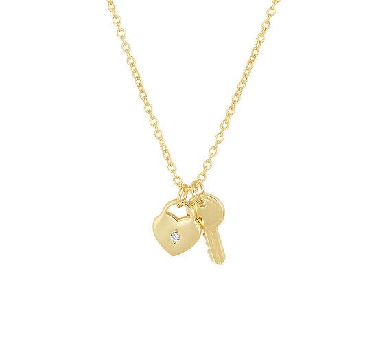 Collier hart en sleutel