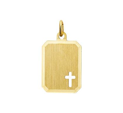 Gouden Graveerplaat met kruisje