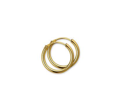 Gouden Oorringen 17 mm