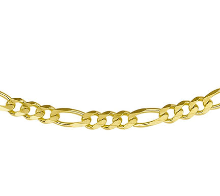 Gouden Figaro Ketting 4.9 mm breed - 60 cm lang
