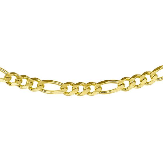Gouden Figaro Ketting 4.9 mm breed - 50 cm lang