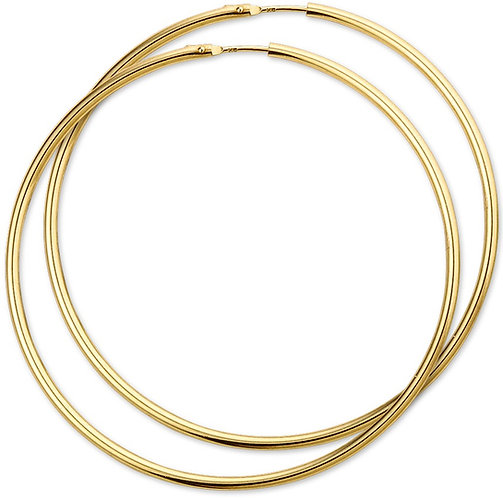 Gouden Oorringen 60 mm