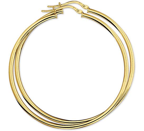 Gouden Oorringen 55 mm