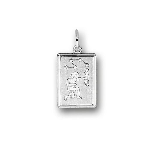 Zilveren Graveerplaat met Boogschutter