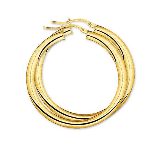 Gouden Oorringen 38 mm
