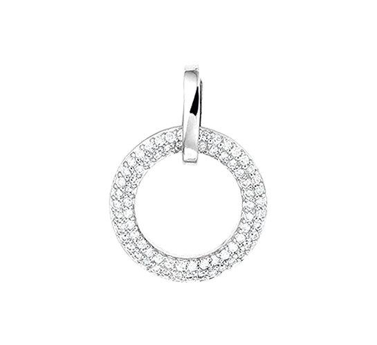 Witgouden hanger Diamant 0,25 Ct.