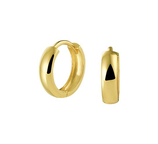 Gouden Klapoorringen 12 mm