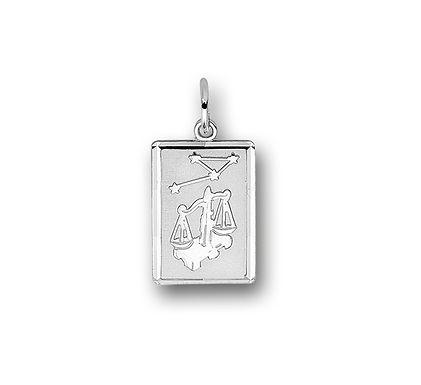 Zilveren Graveerplaat met Weegschaal