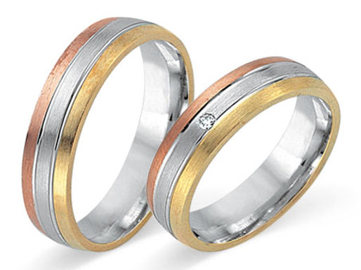 Tri color FGS 80550 14 karaat diamant