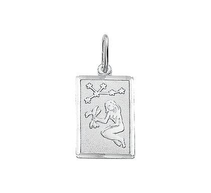 Zilveren Graveerplaat met Maagd