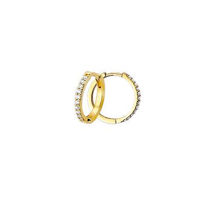 Gouden Klapoorringen Zirkonia 14,5 mm