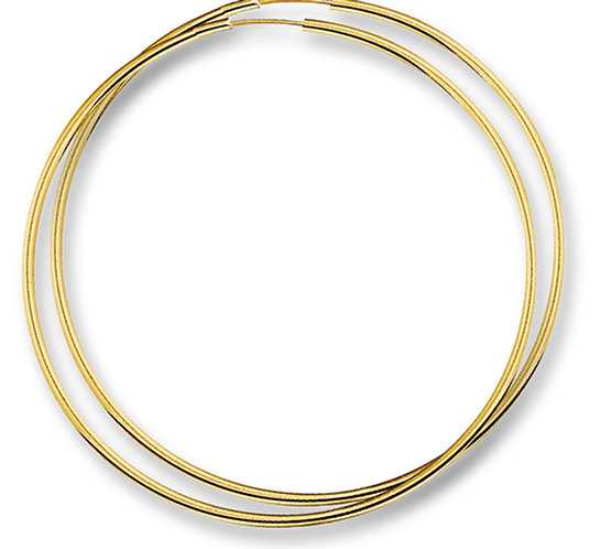 Gouden Oorringen 50 mm