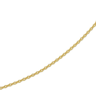 Gouden Anker ketting 1.2 mm breed - 42 cm lang