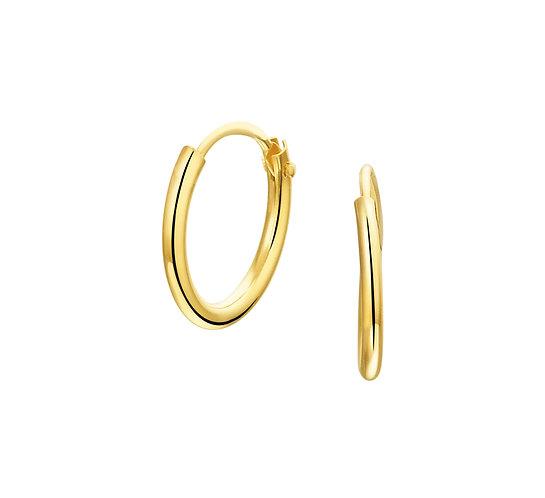 Gouden Oorringen 13 mm
